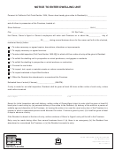 Form 21.0 - Notice To Enter Dwelling Unit