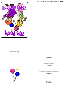70s Party Invitation Template
