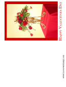 Red Bouquet Valentine Card Template