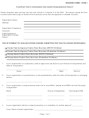 Form 1 - Contractor's Organization Questionnaire/affidavit