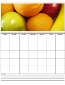 Fruits Weekly Schedule Template
