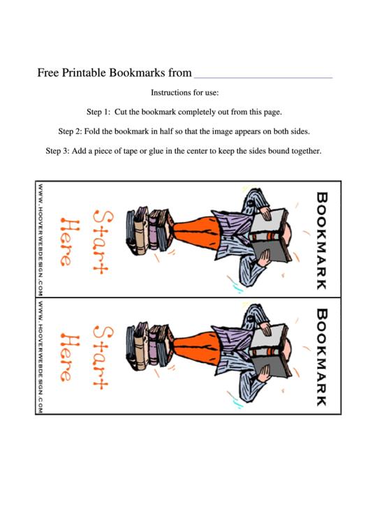 Bookmark Template Printable pdf