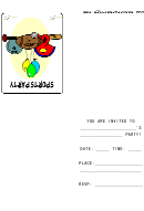 Sports Party Invitation Template