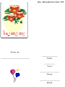 Sushi Dinner Party Invitation Template
