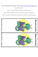 Worm Bookmark Template For Kids