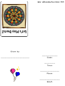 Let's Play Darts Invitation Template