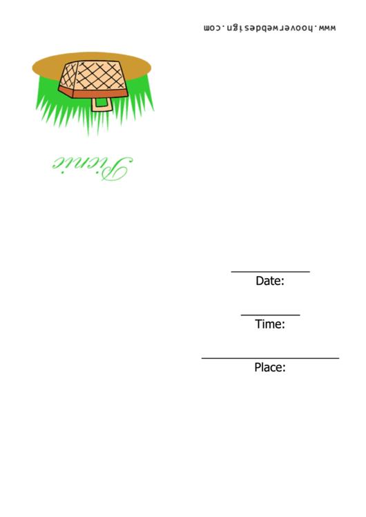 Picnic - Invitation Template Printable pdf