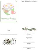 Wedding Breakfast Invitation Template