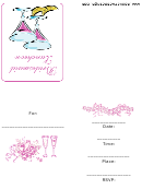 Bridesmaid Luncheon Party Invitation Template