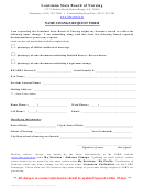Name Change Request Form - Louisiana State Board Of Nursing