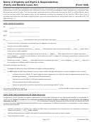 Form 1003 - Notice Of Eligibility And Rights & Responsibilities (family And Medical Leave Act)