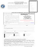 Application For Advance Advisory Opinion Form - State Bar Of Nevada