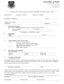 Application Form For Appeal Under Uniform Construction Code