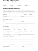 Mechanical Permit Application Form