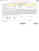 Form Dor-mv215 - Affidavit Of Vehicle Repossession
