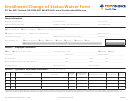 Form Pgc-or Sm Enroll - Enrollment/change Of Status/waiver Form - 2015
