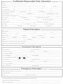 Patient/insurance/health/information Form