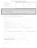 Form Tc-1 - Claim Against The State Of Nevada (2015)