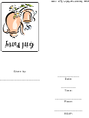 Girl Party Invitation Template