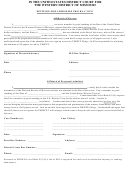 Affidavit Form Of Movant/affidavit Of Proposed Admittee