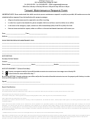 Tenant Maintenance Request Form - North Carolina Real Estate