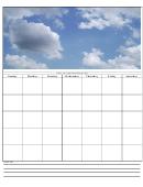 Monthly Calendar Template