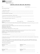 Certification Of Trust By Trustee(s) Form
