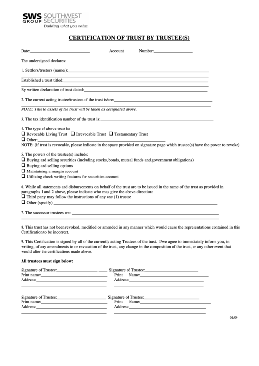 Top 11 Certificate Of Trust Form Templates free to download in PDF ...