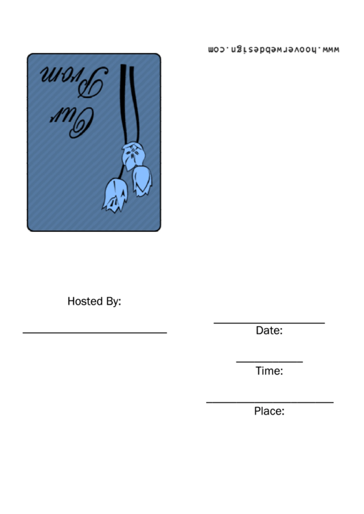 Prom Invitation Template Printable pdf