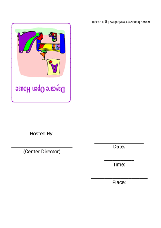 Daycare Open House Invitation Template Printable pdf