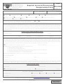 Form Ds-3242 - Deposit Account/financially Responsible Party - City Of San Diego Development Services- 2014