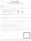 Form 12 - Request For Ph.d. Degree Candidate Research In Absentia Form - Purdue University - Indiana