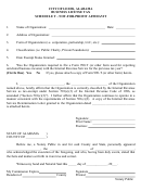 Business License - Schedule T - Not-for-profit Affidavit - City Of Leeds, Alabama