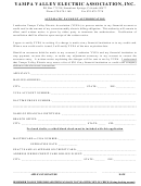 Automatic Payment Authorization Form - Yampa Valley Electric Association