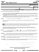 California Form 100-we - Water's-edge Contract - 2001