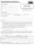 Detour Permit Application Form