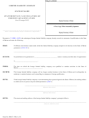 Form Mllc-12b - Statement Of Cancellation Of Foreign Qualification