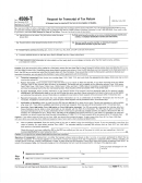 Form 4506-t - Form Request For Transcript Of Tax Return