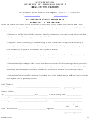 Authorization To Negotiate Directly With Seller - Nevada Department Of Business And Industry