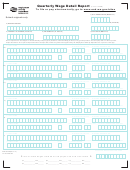 Form 5208b - Quarterly Wage Detail Report - State Of Washington