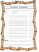 Project Planner Template - Wood Frame
