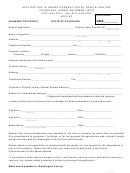 Application To Amend Current Use By Special Review - Washington County State Of Colorado