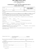 Independent Study Or Mentored Research Enrollment Form
