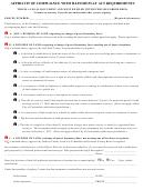 Affidavit Of Compliance With Illinois Plat Act Requirements - Illinois
