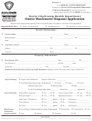 Onsite Wastewater Disposal Application Form - Health Department - Peoria - Illinois