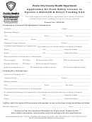 Application For Food Safety License To Operate A Sidewalk & Street Vending Unit Form - County Health Department - Peoria