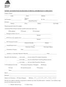 Patient Authorization For Release Of Medical Information To Third Party Form