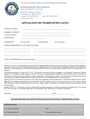Application For Transporter Plates