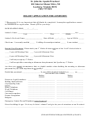 Application Form For Admission