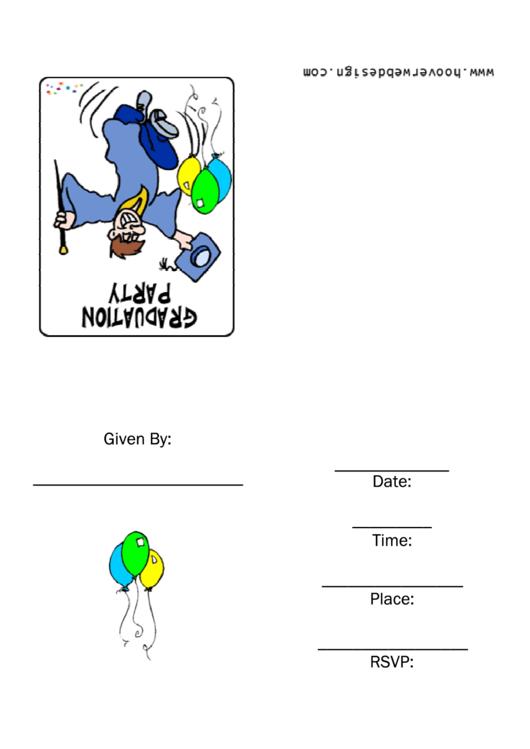 Graduation Party Invitation Template Printable pdf